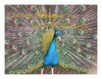{FREEBIE} Peacock Bible Verse Poster