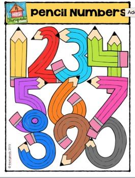FREEBIE Pencil Numbers {P4 Clips Trioriginals Digital Clip Art}