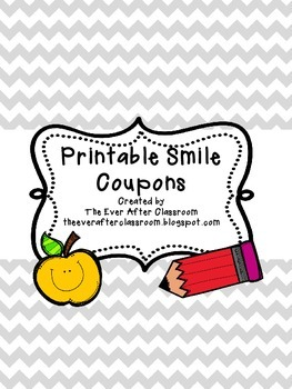 {FREEBIE!} Printable Smile Coupons for Behavior Management