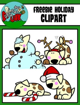 FREEBIE Puppie - Dogs Christmas / Winter Holiday Clipart -