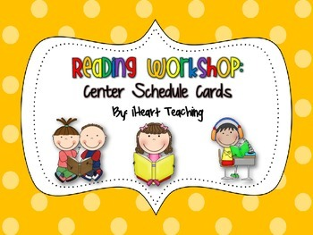 {FREEBIE} Reading Workshop Center Schedule Cards (First, S