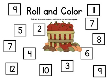 FREEBIE - Roll and Color, Clear the Board, and Roll and Build