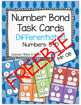 FREEBIE - Roll and Fill Number Bonds 5-10 - Differentiated