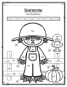 FREEBIE ~ Scarecrow Color By Number