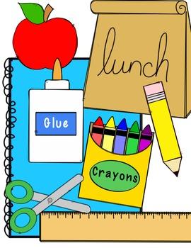 FREEBIE! School Supply Clip Art