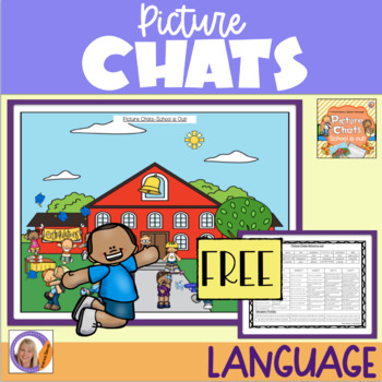 FREEBIE! School is out! Picture Chat!- Vocabulary, 'wh' qu