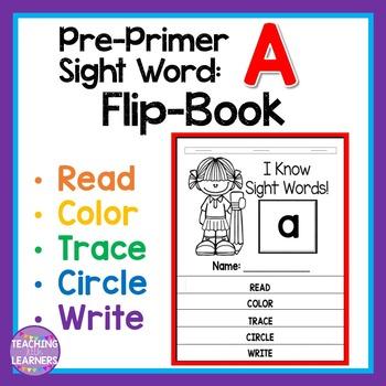 FREEBIE! Sight Word Flip Book: A