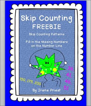 FREEBIE- Skip Counting by 2, 5, 10, 25, 100 -Patterns and
