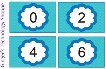 FREEBIE!  Skip Counting by 2's * Blue Wave theme!