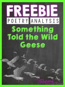 FREEBIE: Something Told the Wild Geese by Rachel Field
