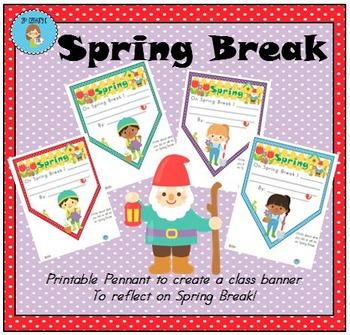 FREEBIE Spring Break Pennant Banner Worksheet
