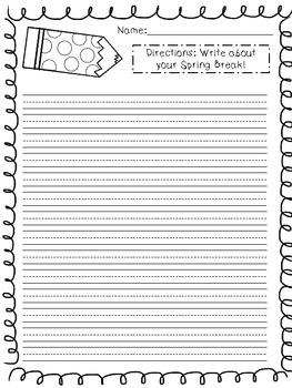 {FREEBIE} Spring Break Writing Paper