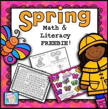 FREEBIE!  Spring Math and Literacy K-2