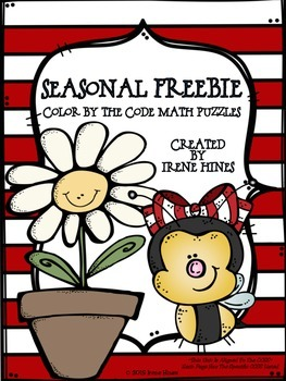 FREEBIE Spring & Summer Seasonal Math Printables Color By