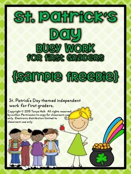 {FREEBIE} St. Patrick's Day Busy Work for First Graders