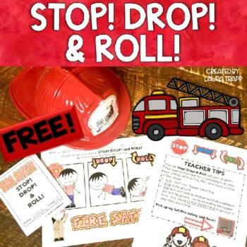 FREEBIE!:  Stop! Drop! & Roll!  Fire Safety