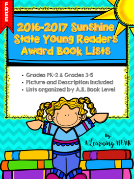FREEBIE Sunshine State Young Readers Award Book Lists Grad