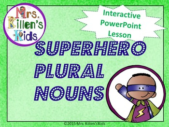 *FREEBIE* Superhero Plural Nouns RULES (ONLY) - PowerPoint Lesson