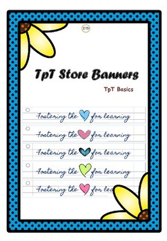 FREEBIE TPT Store Banners: Fostering the Heart/ Love for L