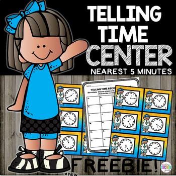 FREEBIE Telling Time to 5 Minutes Set 2