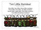 FREEBIE Ten Little Reindeer poem
