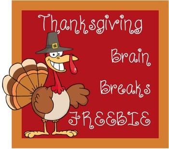 FREEBIE: Thanksgiving Brain Breaks and Challenges
