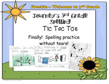 FREEBIE - Tic Tac Toe Back to School Spelling