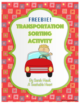 FREEBIE Transportation Cut and Paste Activity