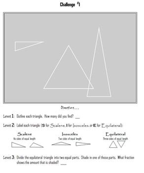 FREEBIE!  Triangles:  Scalene, Isosceles or Equilateral?