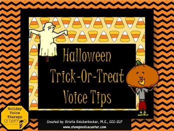 FREEBIE Trick or Treat Voice Tips