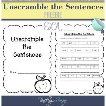 FREEBIE - Unscramble the Sentences