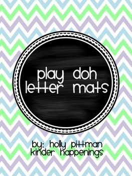 FREEBIE Upper and Lowercase Play Doh Letter Mats