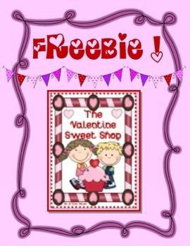 FREEBIE! ~ Valentine Sweet Shop