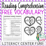 {FREEBIE} Valentine's Day Reading Comprehension Vocabulary