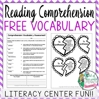 {FREEBIE} Valentine's Day Reading Comprehension Vocabulary