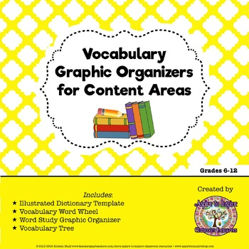 FREEBIE Vocabulary Graphic Organizers for Content Areas