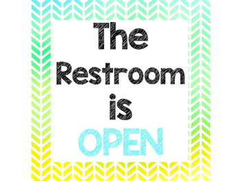 FREEBIE Watercolor Bathroom Sign