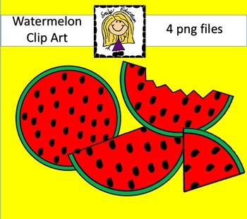 {FREEBIE} Watermelon Clip Art by Emily Education