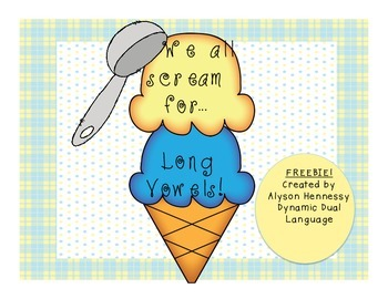 FREEBIE! We all scream for LONG VOWELS!
