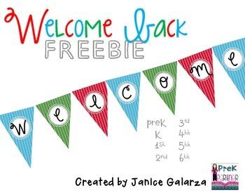 FREEBIE: Welcome Back Banner!