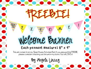 FREEBIE Welcome Pennant Banner