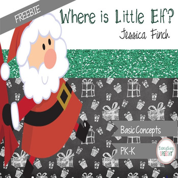 FREEBIE: Where is Little Elf? Printable book for positiona