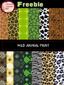 FREEBIE Wild Animal Print Digital Papers/ Clipart