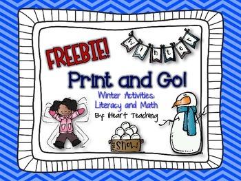 {FREEBIE} Winter Print and Go! (NO PREP Printables)