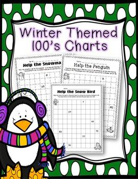 FREEBIE: Winter Themed 100's Charts