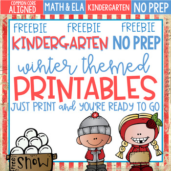 FREEBIE Winter Themed No Prep Printables Kindergarten Lite