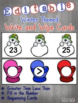 FREEBIE Winter Write and Wipe Cards