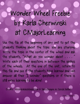 {FREEBIE} Wonder Wheel Graphic Organizer