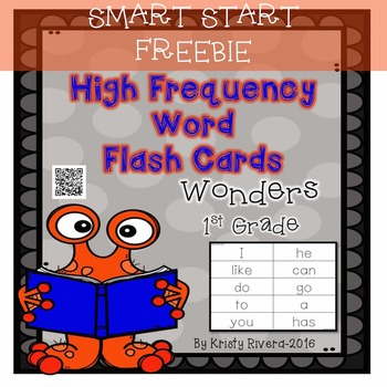 FREEBIE Wonders High Frequency Word Flash Cards-First Grad