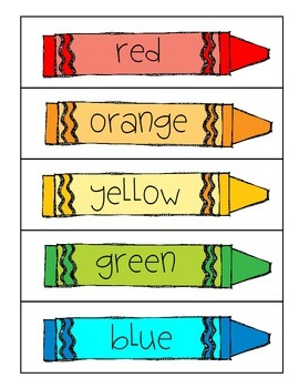 FREEBIE- Word Wall Colors